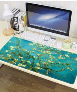 grand tapis de souris Van Gogh Amandier en fleurs