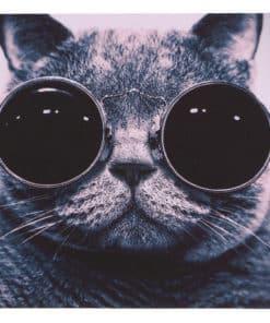 tapis de souris motif chat à lunettes noires