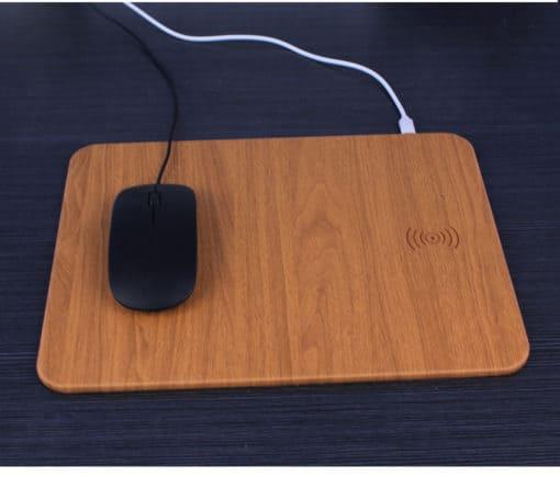 tapis de souris bois rechargeable