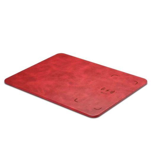 tapis de souris similicuir cuir rechargeable