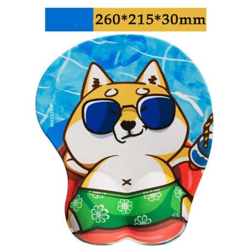 Tapis de souris enfant XL 3D chien shiba en short