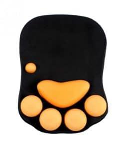 tapis de souris ergonomique patte chat noir