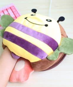 Tapis de souris chauffe-main USB abeille