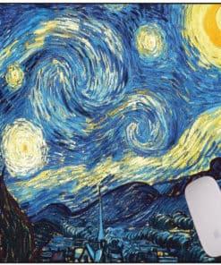 tapis de souris dessin peinture créative Van Gogh