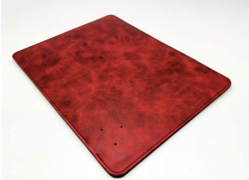 tapis de souris bois cuir rechargeable