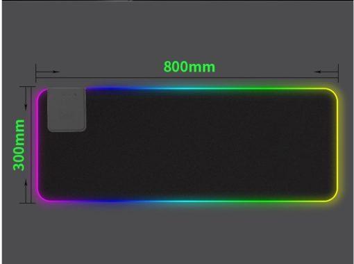 Tapis de Souris Gamer Lumineux Mouse Pad LED Rétro-Eclairage xxl 300 x 800 mm