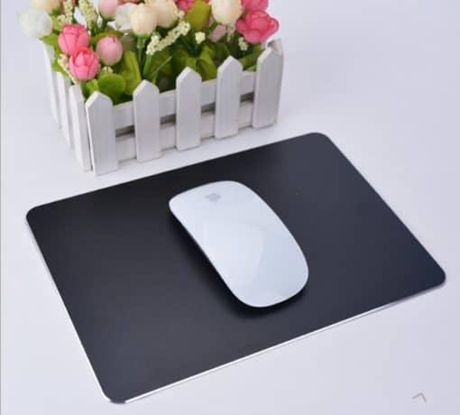 tapis de souris aluminium noir