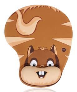 Tapis de souris enfant avec repose poignet écureuil