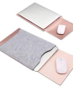 Pochette pour ordinateur portable avec tapis de souris intégré