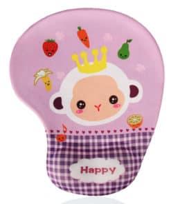 Tapis de souris enfant avec repose poignet bébé singe