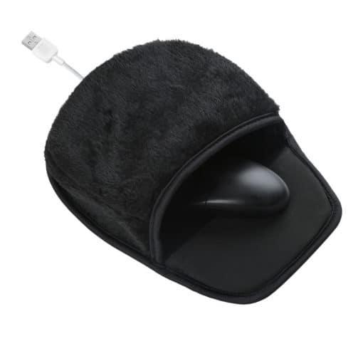 tapis de souris chauffant noir