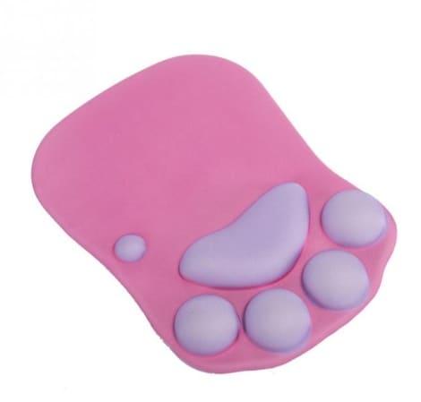 tapis de souris ergonomique patte chat violet