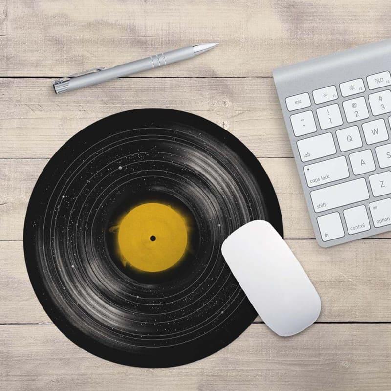tapis de souris rond vinyle