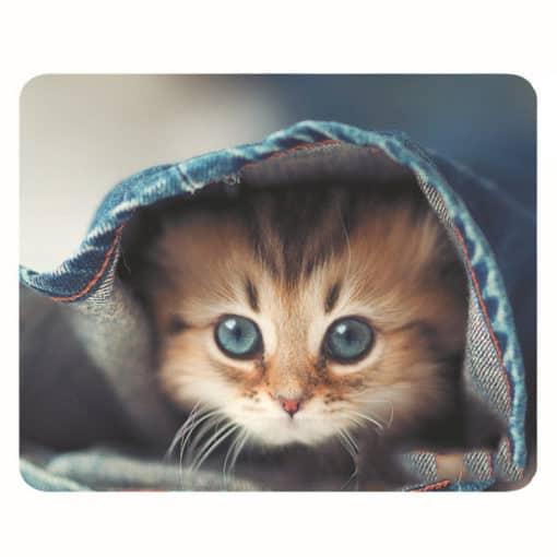 tapis de souris motif chat couvert d'un pantalon chaud