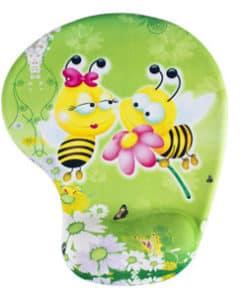 Tapis de souris enfant avec repose poignet couple d'abeilles