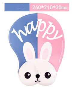 Tapis de souris enfant XL 3D lapin blanc