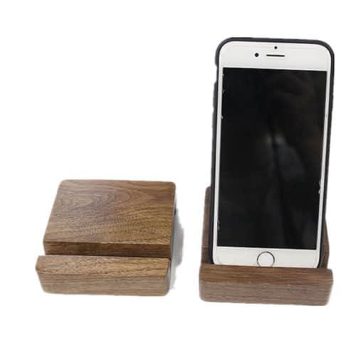 Support en bois massif pour téléphones mobiles