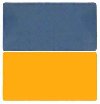 Tapis de souris XXL double face Bleu-jaune