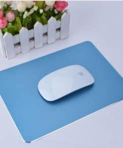 tapis de souris aluminium bleu
