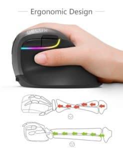 Souris verticale sans fil ergonomique Delux