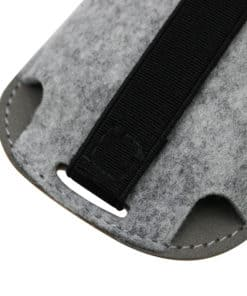 Housse de souris style cuir à bande élastique