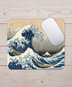 Tapis de souris - Série peinture - Hokusai - La vague