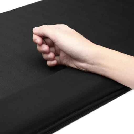 Tapis de souris ergonomique XXL noir avec repose-poignets intégré