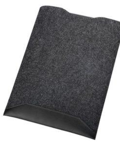 Pochette noire pour ordinateur portable avec tapis de souris intégré