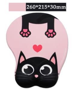 Tapis de souris enfant XL 3D chat noir