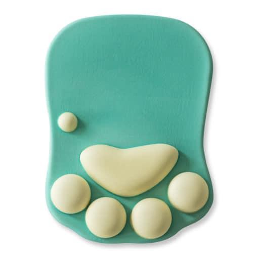 tapis de souris ergonomique patte chat vert