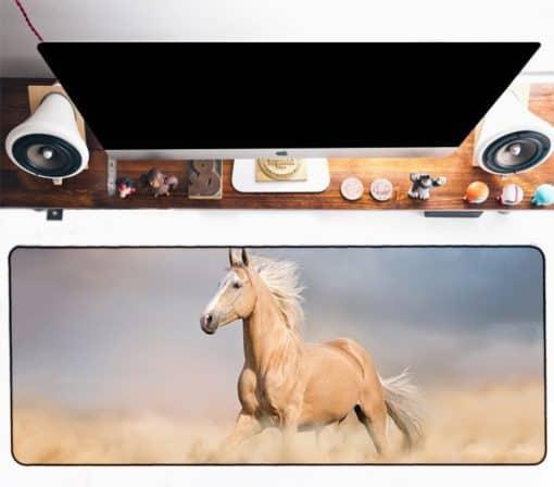 Tapis de souris XXL – Série animaux – Cheval crinière au vent