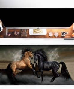 Tapis de souris XXL – Série animaux – Combat de chevaux