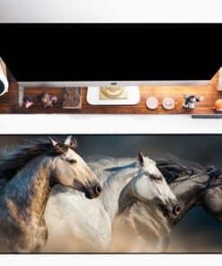 Tapis de souris XXL – Série animaux – Trio de chevaux
