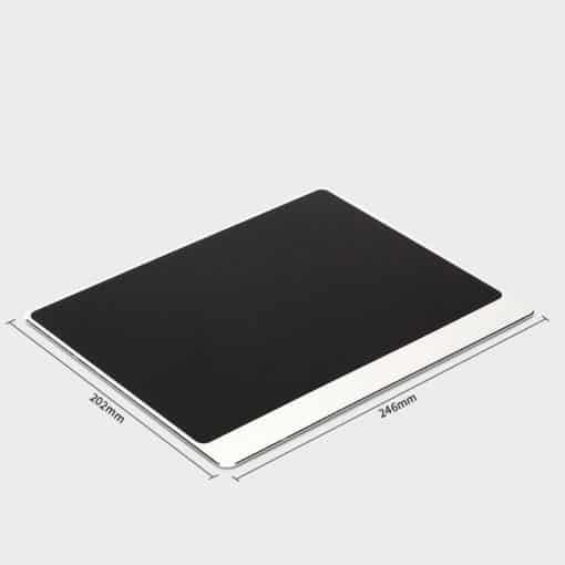 Tapis de souris aluminium matière double rebord 202x246 argent