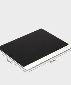 Tapis de souris aluminium matière double rebord 180x220 argent