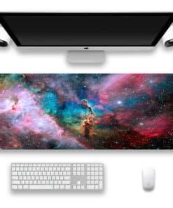 Tapis de souris XXL - Série espace et galaxie – Nébuleuse multicolore