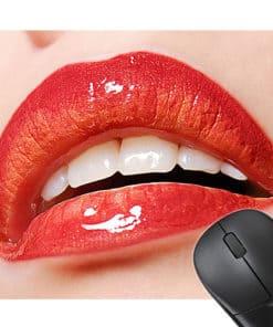 Tapis de souris sexy Lèvres rouges pulpeuses