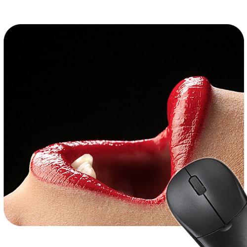Tapis de souris sexy - Bouche langoureuse ouverte