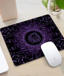 Tapis de souris rectangle gaming motif lion rugissant couleur violet