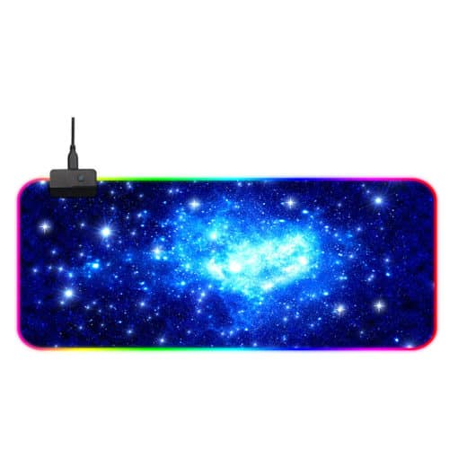 Tapis de souris RGB XXL gamer - Galaxie étoilée