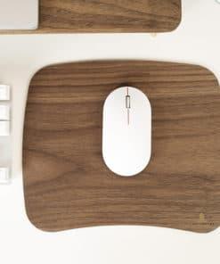Tapis de souris en bois en forme trapèze arrondi