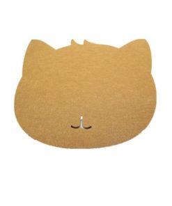 Tapis de souris chat en textile feutre couleur marron