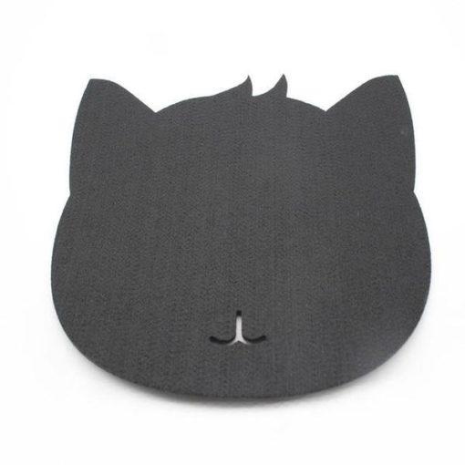 Tapis de souris chat en textile feutre couleur noir