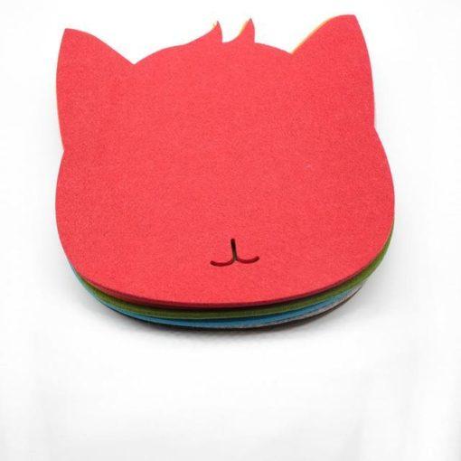 Tapis de souris chat en textile feutre couleur rouge