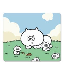 Tapis de souris enfant famille de petits cochons pendant la sieste