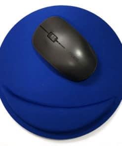 Tapis de souris ergonomique rond avec repose-poignet - Différents coloris