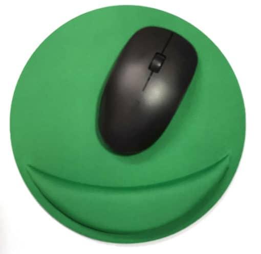 Tapis de souris ergonomique rond avec repose-poignet couleur vert
