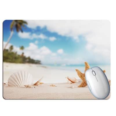 Tapis de souris paysage plage paradisiaque coquillages