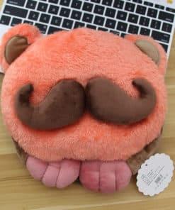 tapis de souris chauffant USB tête à moustache modèle orange moustache marron