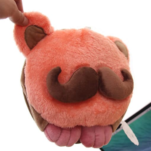 tapis de souris chauffant USB tête à moustache tiré par l'oreille